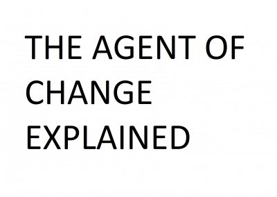 How To: Agent of Change